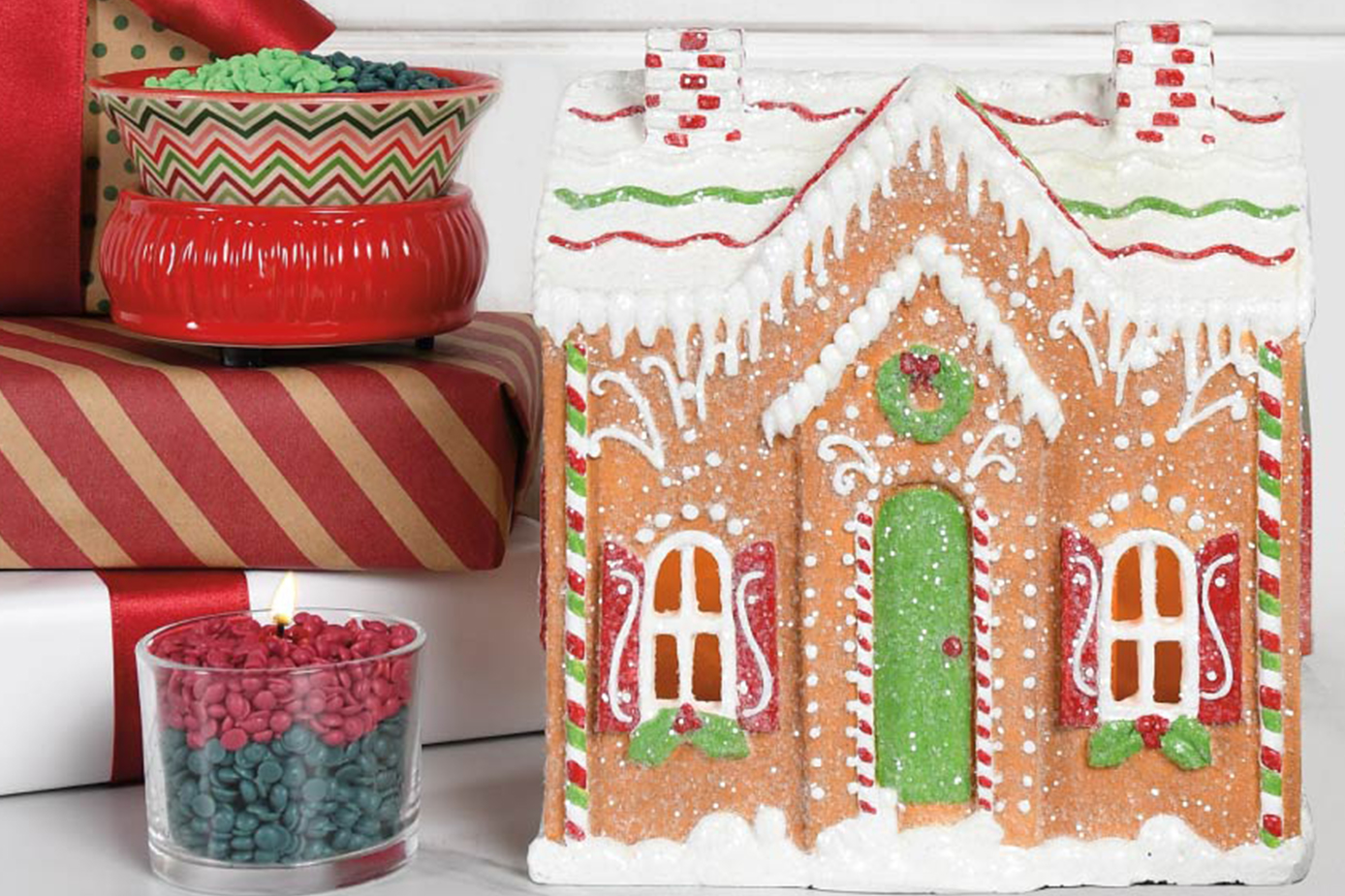 Pink Zebra Gingerbread House