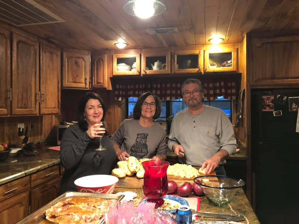 Allan, Connie and Me Helping With Dinner
