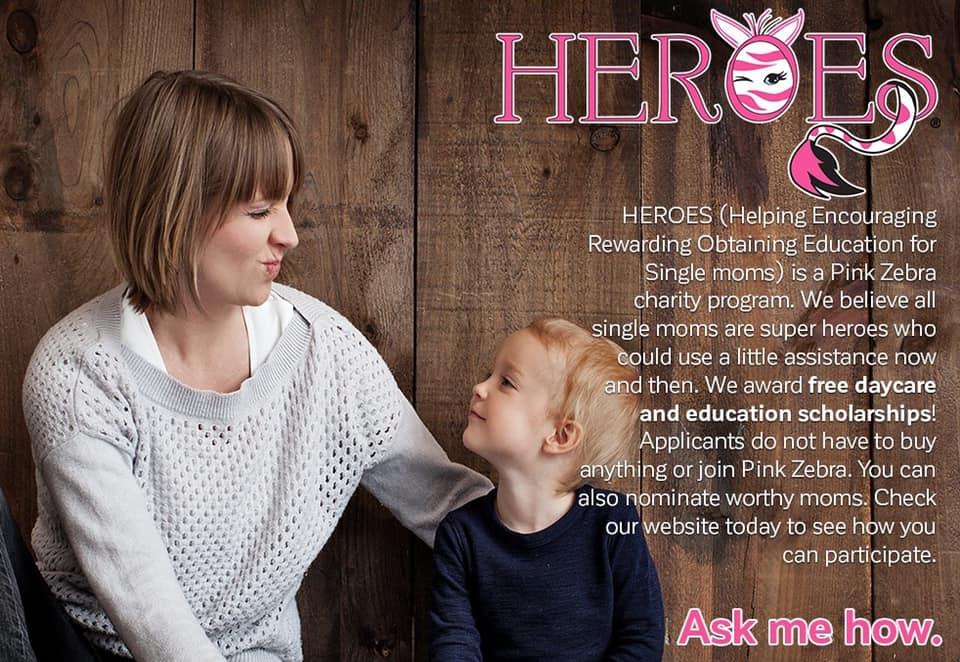 Pink zebra heroes program